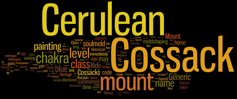 Wordle Cerulean Cossack