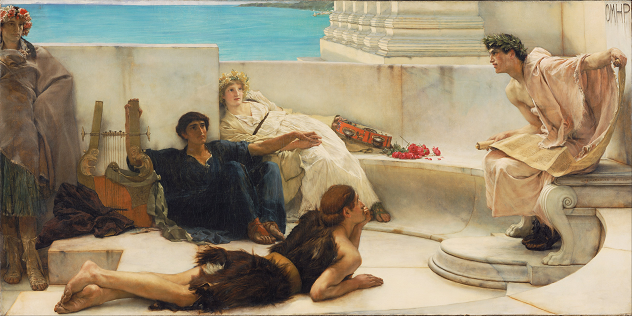 A Reading from Homer by Sir Lawrence Alma-Tadema