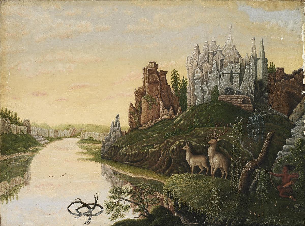 Landscape with Castles and Deer