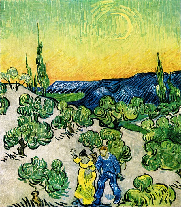 Vincent van Gogh - Spaziergang im Mondlicht
